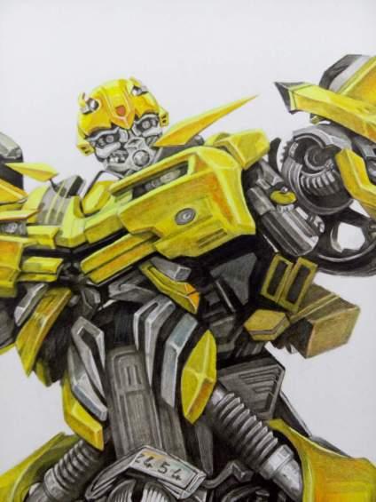 再来一发,大黄蜂局部,色粉+炭笔,刚好半开画板那么大,各位多指教🙏🙏🙏🙏